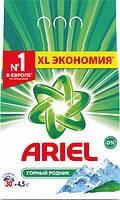 Стиральный порошок Ariel Горный Родник, для белого, 4,5 кг 30 стир, фото 1