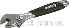 Ключ розсувний Miol c ергономічною ручкою 200 мм, (0-24 мм) (54-022)