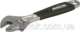 Ключ розсувний Miol c ергономічною ручкою 250 мм, (0-29 мм) (54-024)