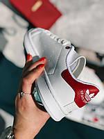 Кроссовки Adidas Stan Smith Red белые, фото 1