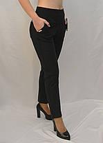 Жіночі зимові штани з начосом у великих розмірах 2XL - 7XL Лосіни жіночі з кишенями - батал, фото 2