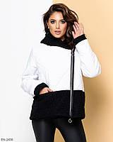 Женская двусторонняя куртка с отделкой из шерсти-букле