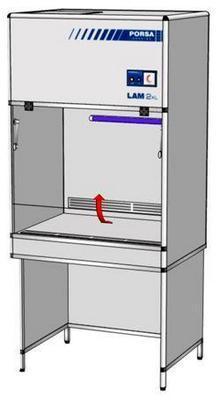 Шкаф ламинарный 2 класс ББ ШЛ-1.2 в (1000x750x2150)
