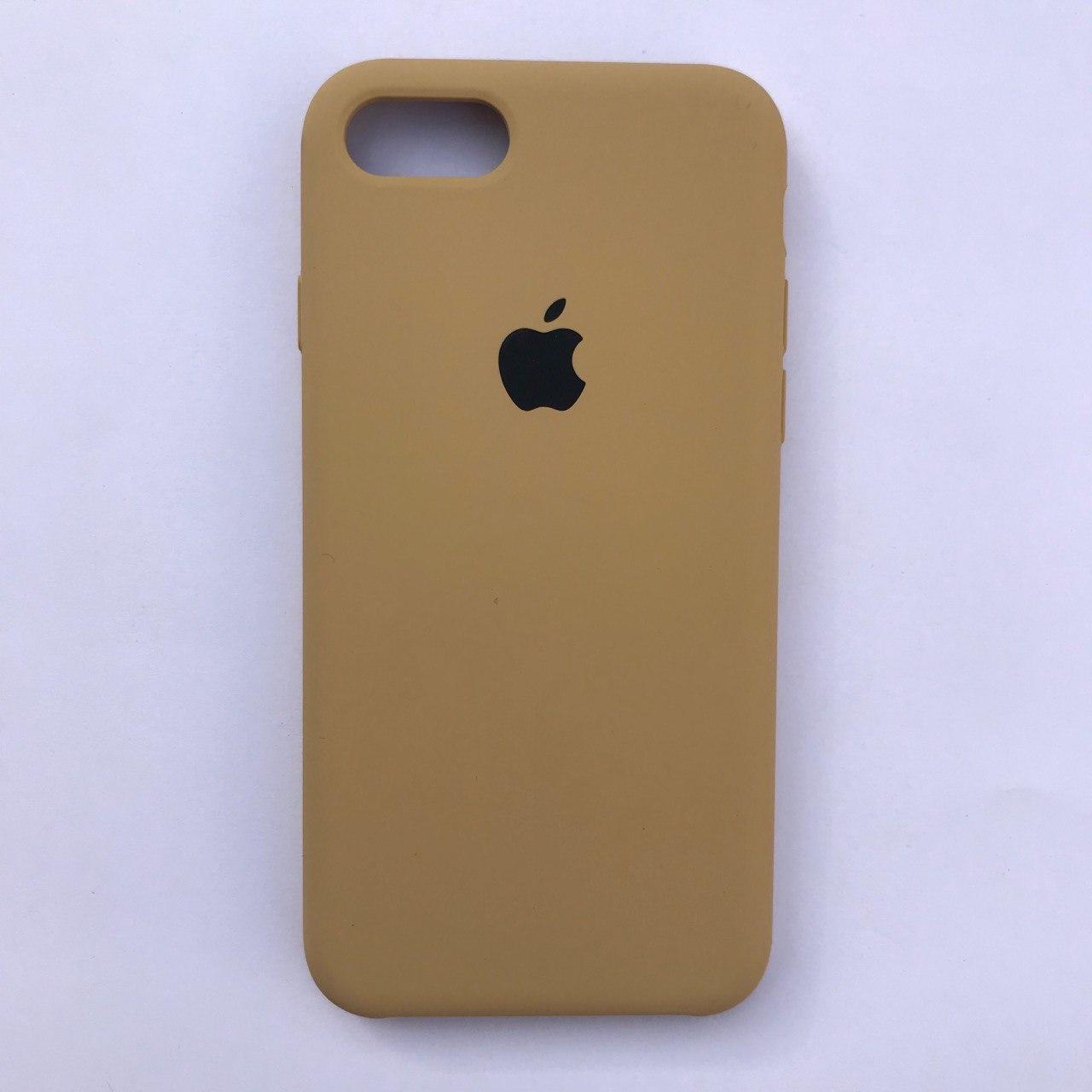 Чехол-накладка Silicone Case для Apple iPhone 7 iPhone 8 Gold