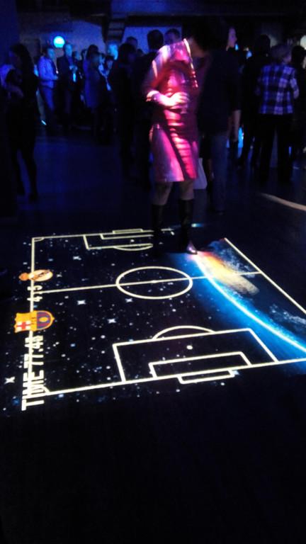 Установка интерактивного футбола для компании AMADEUS