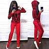 Костюм женский вязаный лев штаны и кофта с капюшоном, фото 4