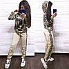Костюм женский вязаный лев штаны и кофта с капюшоном, фото 2