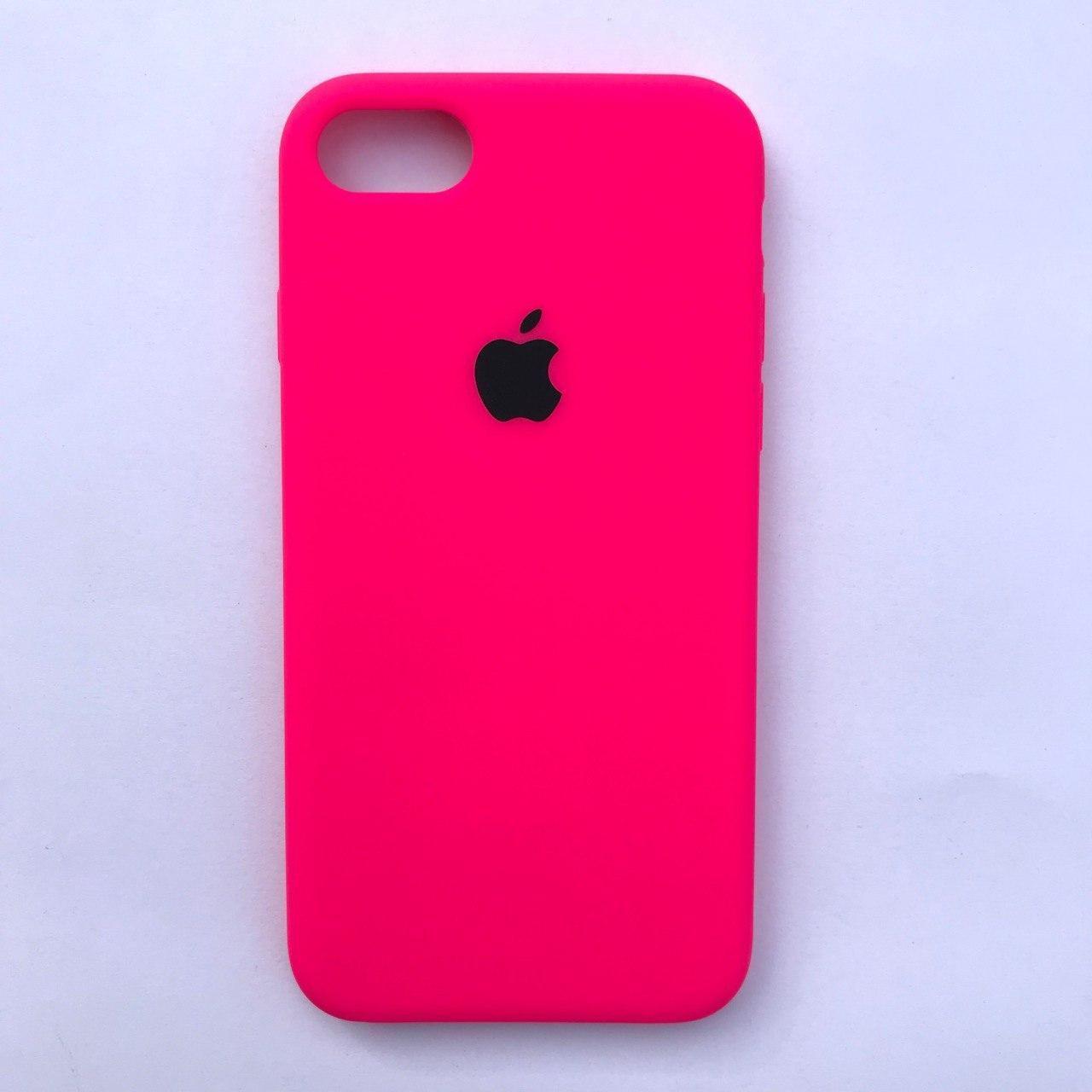 Чехол-накладка Silicone Case для Apple iPhone 7 iPhone 8 Neon pink