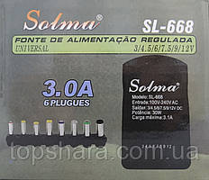 Блок питания 12v 3a 7 in 1  SL-668 с переходниками