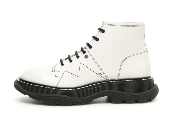 "Женские ботинки в стиле Alexander McQueen Boots ""White/Black"""