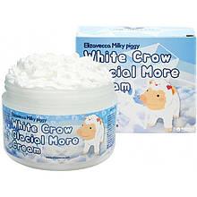 """Осветляющий крем для лица """"белая ворона"""" с эффектом сияния Elizavecca White crow glacial more cream"""