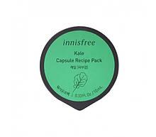 Антиоксидантная маска на основе экстракта капусты Innisfree Capsule Recipe Pack Kale
