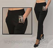 Женские зимние брюки с начесом в больших размерах от 2XL до 7XL Лосины  женские с карманами 2XL\3XL, фото 3