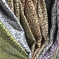 Щільна шторна тканина велюр блекаут софт двостороння з завитками, висота 2.8 м на метраж (211), фото 6