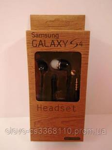 Original H/F Samsung Galaxy S4 (EO-HS330, вак, коричн. коробка) Black