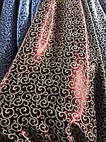 Щільна шторна тканина велюр блекаут софт двостороння з завитками, висота 2.8 м на метраж (211), фото 5