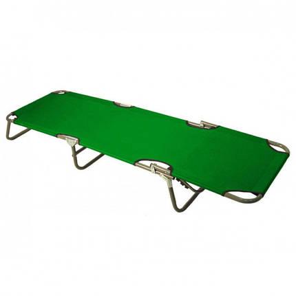 Раскладушка HLV MH-3086 188х56х28 см Green, фото 2
