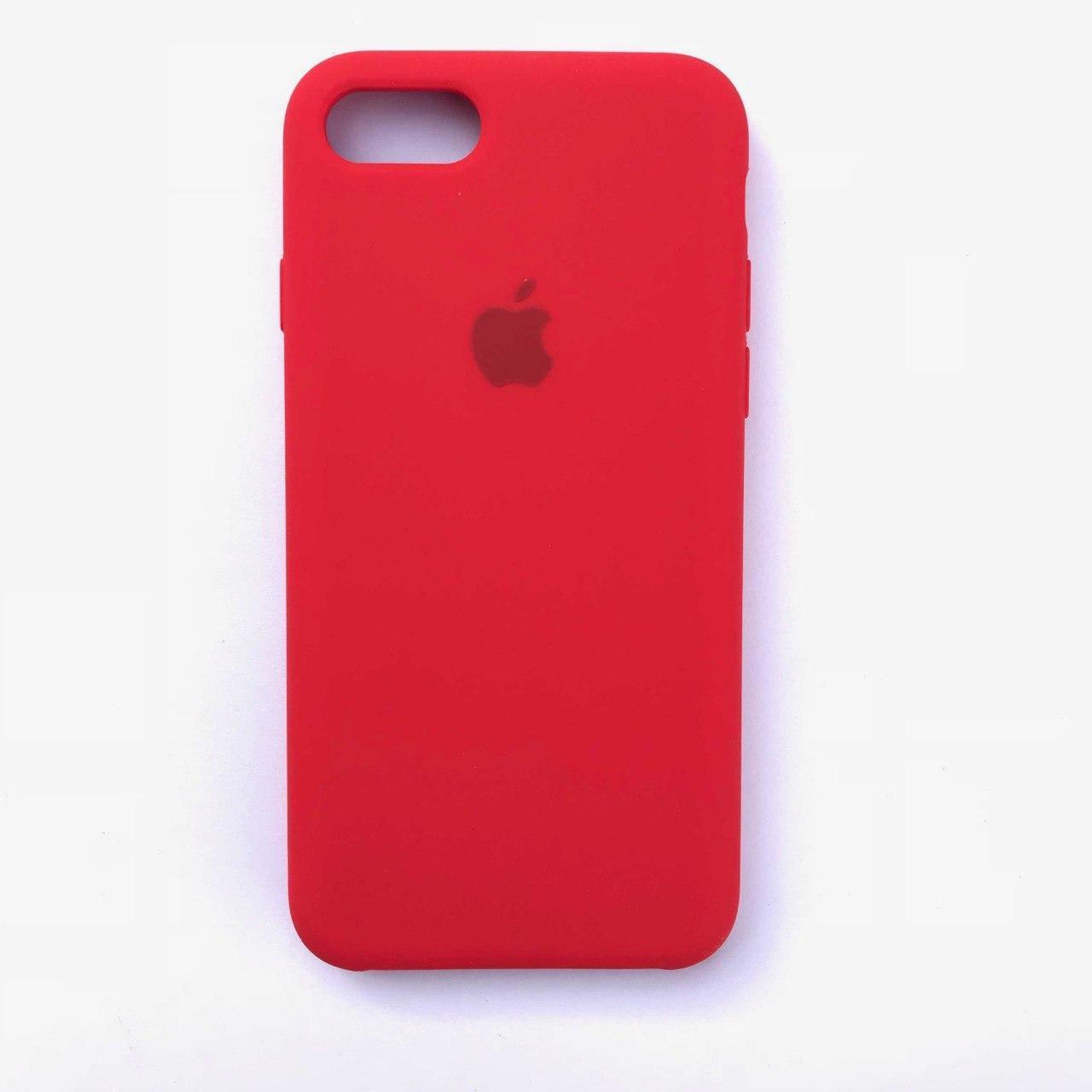 Чехол-накладка Silicone Case для Apple iPhone 7 iPhone 8 Red