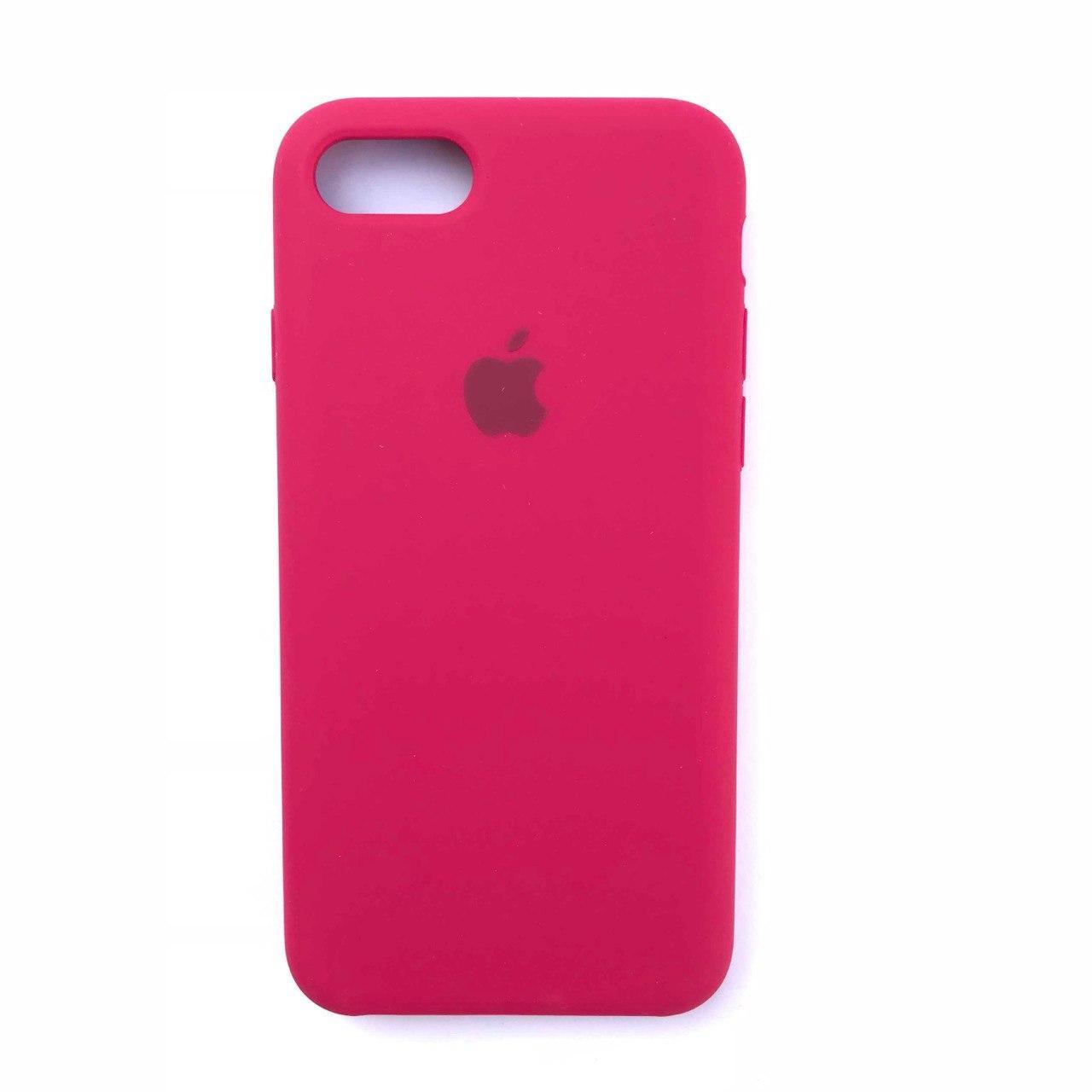 Чехол Silicone Case для Apple iPhone 7, 8 Rose Red