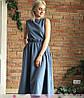 Платье из софта макси с поясом высокая талия, фото 5