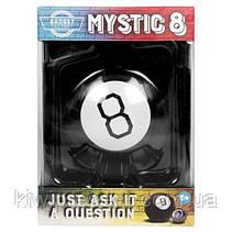 Магический шар предсказатель 10 см на английском языке Magic Ball 8 черный шарик с ответами большой, фото 3