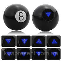 Магический шар предсказатель 10 см на английском языке Magic Ball 8 черный шарик с ответами большой, фото 2