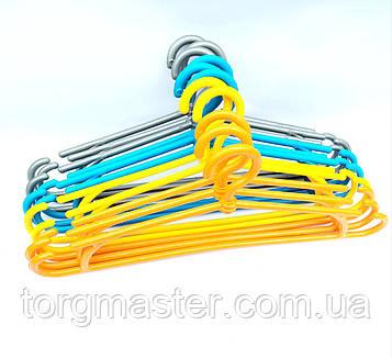 Вешалки пластиковые цветные зима, 41см