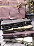 Постельное Белье Сатин Люкс Двуспальное Евро 200*220 см Q-CottonТурция Бежевое, фото 3