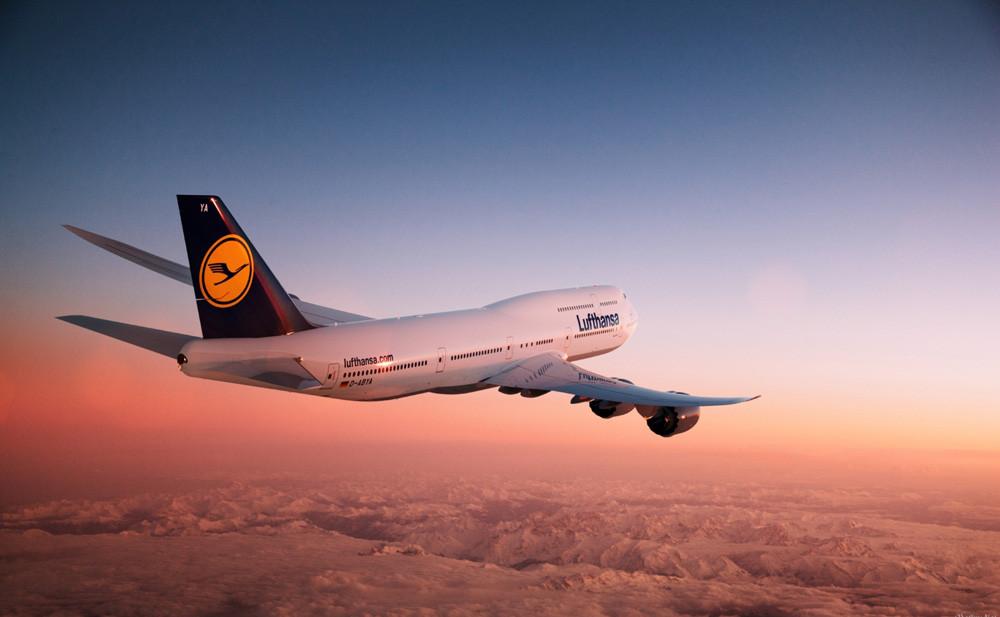 """Картина на стекле """"Боинг 747"""""""