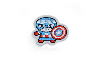 """Аппликация вышитая, """"Капитан Америка"""", 5*4,5см"""