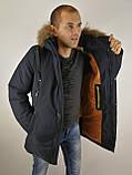 Мужская зимняя куртка мех, фото 6
