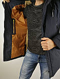 Мужская зимняя куртка мех, фото 5