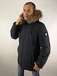 Мужская зимняя куртка мех, фото 3