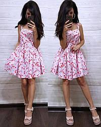 Сукня сарафан літній з квітковим принтом