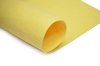 Фетр листовой, желтый, 2мм