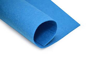 Фетр листовой, синий, 2мм