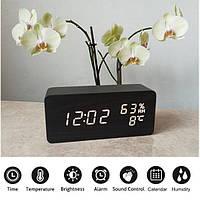 Электронные Настольные Часы VST-862 S черные, белая подсветка