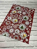 Доріжка на стіл новорічна, рогожка, 50*150