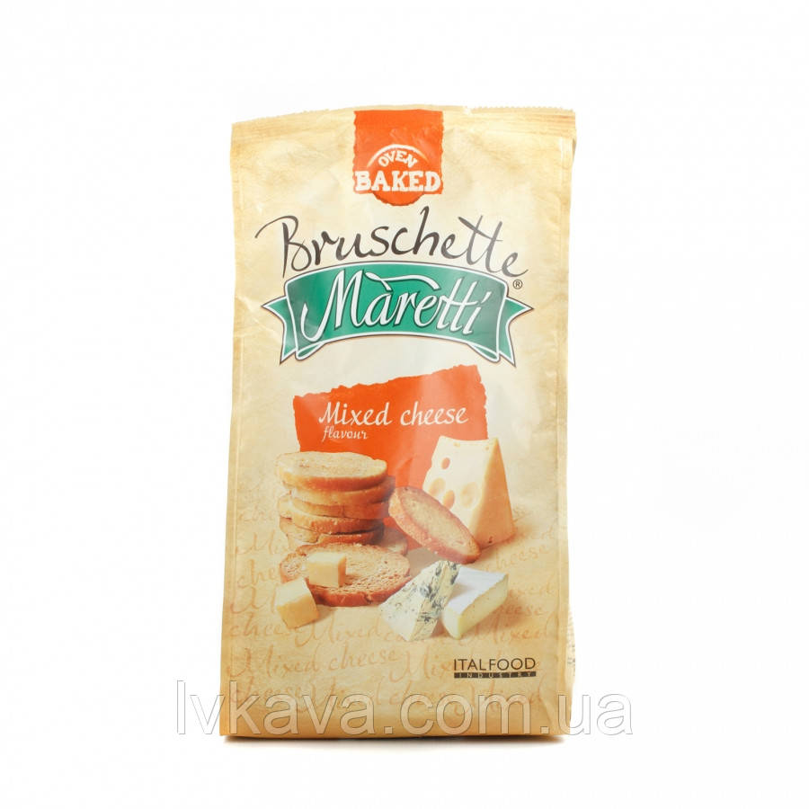 Гренки Bruschette Mixed Cheese Maretti, 140 гр