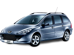 Защита двигателя и КПП для Peugeot (Пежо) 307 2001-2008