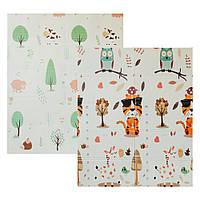 Детский двусторонний складной коврик Poppet - Тигренок в лесу и Молочная ферма 150х180см (PP001-150)
