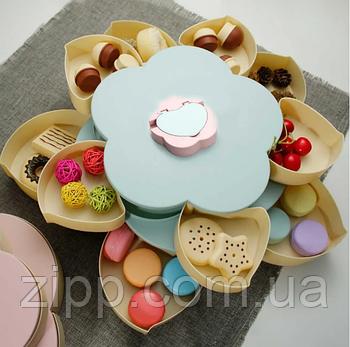 Тарілка для закусок | фруктовниця | тарілка для солодкого | обертається тарілка-органайзер