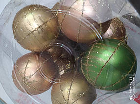 Ялинкові кулі 20 шт. в упаковці ( діаметр 6 см ) мікс, фото 2
