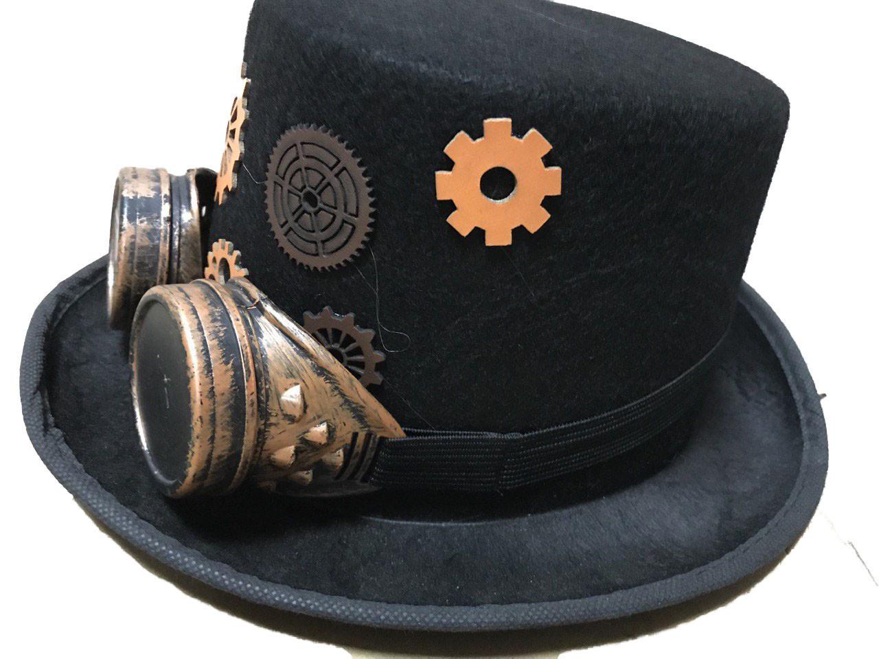 Шляпа цилиндр в стиле стимпанк