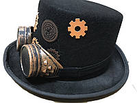 Шляпа цилиндр в стиле стимпанк, фото 1