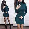 Платье гольф обтягивающее с длинным рукавом, фото 5