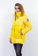 Женская зимняя куртка Visdeer. Желтый цвет