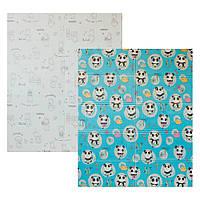 Детский двусторонний складной коврик Poppet - Приключения мишек и Танец панд 150х180см (PP003-150)