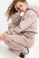 Современный женский спортивный костюм с однотонной ткани