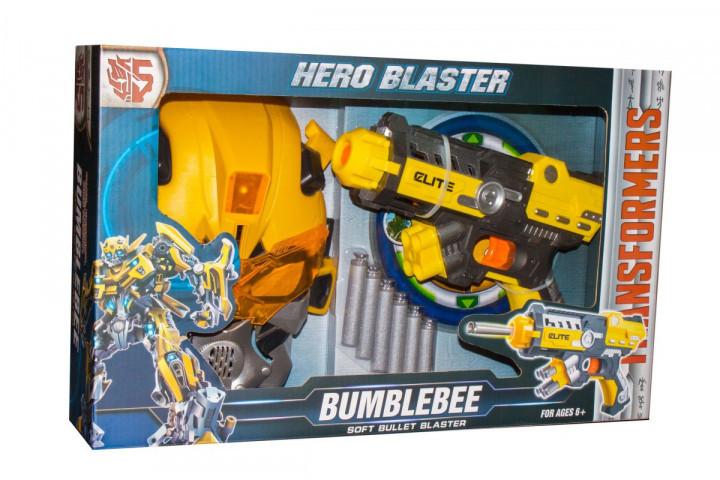 Ігровий набір SHANTOU Transformers бластер з поролоновими набоями та маскою, в коробці 45-27,5-9,5 см